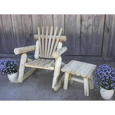 white cedar log rocker