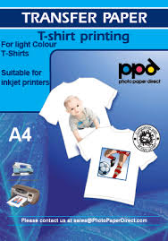 a4 light inkjet t shirt transfer paper with free cotton bag for