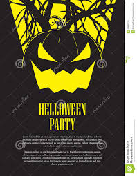 halloween party flyer stock vector image 58949724