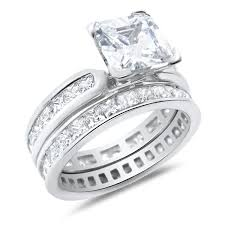 silver wedding ring sets for him and his and wedding rings set sterling silver wedding bands for