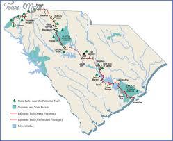 foothills trail map south carolina map travel