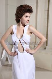 white cut out evening gowns prom dresses thecelebritydresses
