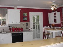 Red Kitchen With White Cabinets Tag For White Cabinets Red Walls Kitchen Nanilumi