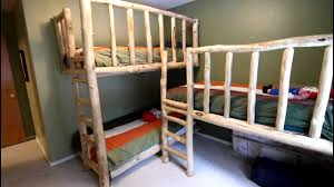 triple bunk beds from aspen logs youtube