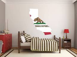 buckeye inkworks us state flag in a state shape california flag in the state shape wall decal