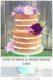 How To Make Cake Decorations How To Make A Tiered Cake Jenny Cookies