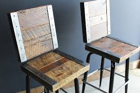 bar stools restaurant gorgeous reclaimed wood bar stools at 2 restaurant with backs made