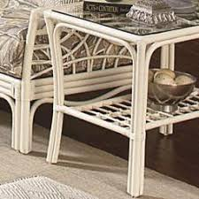 Braxton Culler Outdoor Furniture by Braxton Culler 909 Tropical Rattan Coffee Table With Slatted Shelf