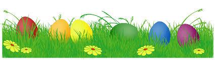 easter egg banner clipart