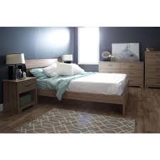 south shore fusion 1 drawer rustic oak nightstand 9063062 the