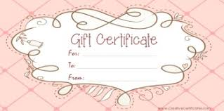 free printable and editable gift certificate templates gift