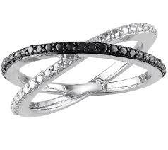 diamond x ring black diamond x ring sterling by affinity page 1 qvc