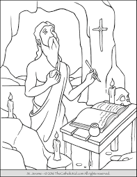 st augustine coloring page coloring pages ideas u0026 reviews