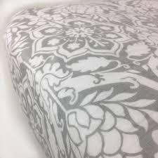 Organic Mini Crib Sheets by Gray Floral Organic Cotton Muslin Crib Sheet By Bambino Land