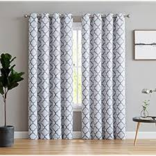 Window Curtains Hlc Me Lattice Print Thermal Insulated Blackout Window