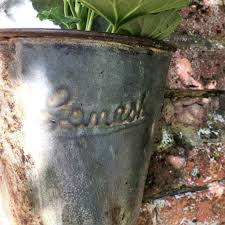 Metal Wall Planter by Vintage Indian Bucket Wall Planter