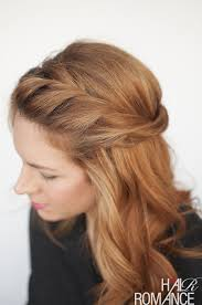 step by step twist hairstyles the twist back easy half up hairstyle tutorial hair romance