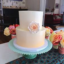 peach ombre wedding cake sugar mill cake co is the premier source for custom wedding cakes in