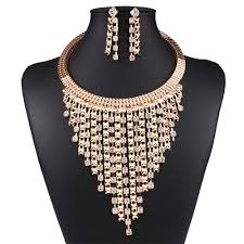 gold filled necklace set images Women fashion 18k gold filled jewelry sets austrian crystal jpg
