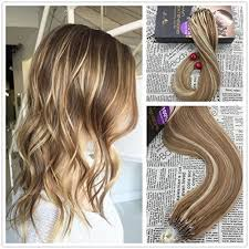 micro bead hair extensions reviews moresoo 18 two tone color light brown and highlights