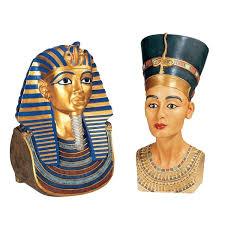 s med tut nefertiti busts design toscano tutankhamen king tut