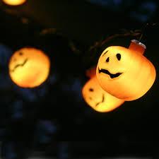 Halloween Orange Lights by 10 Pumpkin Halloween Solar Fairy Lights Lights4fun Co Uk