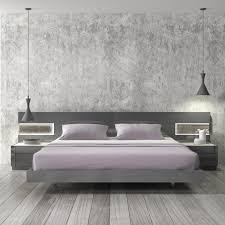 White Platform Bedroom Sets Natural Grey Lacquer Platform Bedroom Set