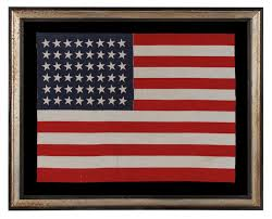 American Flag Upside Down Jeff Bridgman Antique Flags And Painted Furniture 48 Stars In