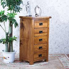 oak wood bedroom furniture storage drawers high chest of drawers