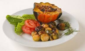 Vegetarian Thanksgiving Dinner Vegetarian Thanksgiving Dinner Features Sprouts And Squash A