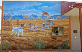 alva oklahoma magnificent murals higher education and a on the side of a bank we see that this is hunting country
