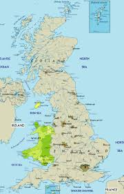 A Map Of England by Large Map Of Wales In The United Kingdom