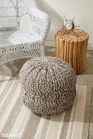 Crochet Patterns For Home Decor Bernat Wheel Spokes Crochet Pouf Crochet Pattern Yarnspirations