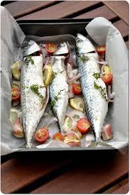 cuisiner des maquereaux frais maquereaux au four et légumes grillés chez bergeou