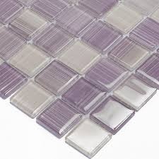 purple kitchen backsplash aliexpress buy purple painted diy glass mosaic