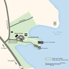 Map Of St Croix Maps Saint Croix Island International Historic Site U S