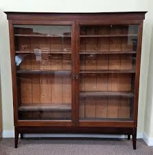 Mahogany Bookcase With Glass Doors Item Dx6 Antique Mahogany Bookcase W Glass Doors C 1910
