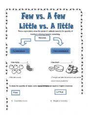 quantifiers a few few vs a little little