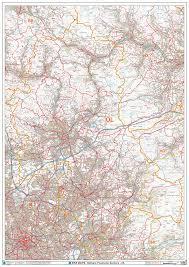 map of oldham oldham ol postcode wall map xyz maps