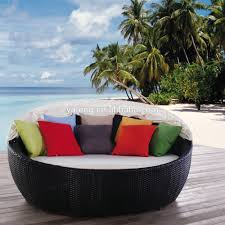 oval wicker outdoor round lounge furniture daybed gallery and