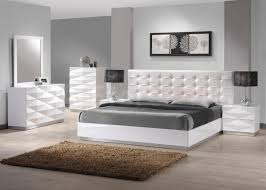 White Wood Headboard White Wooden Bed With White Headboard Plus Gray Bed Sheet Between