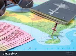 Map Of Bali Map Bali Pin Pinned Kuta Area Stock Photo 444616279 Shutterstock