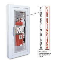 jl industries fire extinguisher cabinets jl clear vu 1516f25 semi recess mounted 10 lbs fire extinguisher