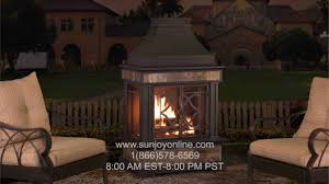 assembly how to sunjoy elson slate and steel fireplace 35 4