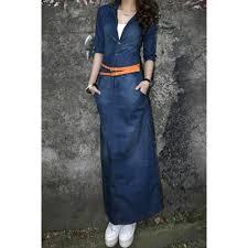 light blue high waist off the shoulder denim dress cheap online