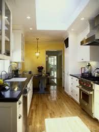 kitchen style galley kitchen ideas butcher block countertop light