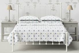 felicity king size white metal bed frame with strong mesh base