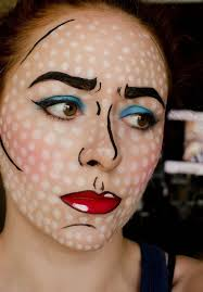 Pop Art Halloween Costume Halloween Pop Art Comic Strip Makeup Tutorial