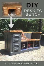 children s home decor diy desk to bench other home and diy home decor