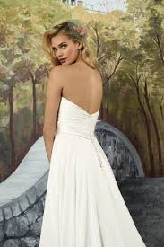 style 8916 silk chiffon a line with sweetheart neckline and